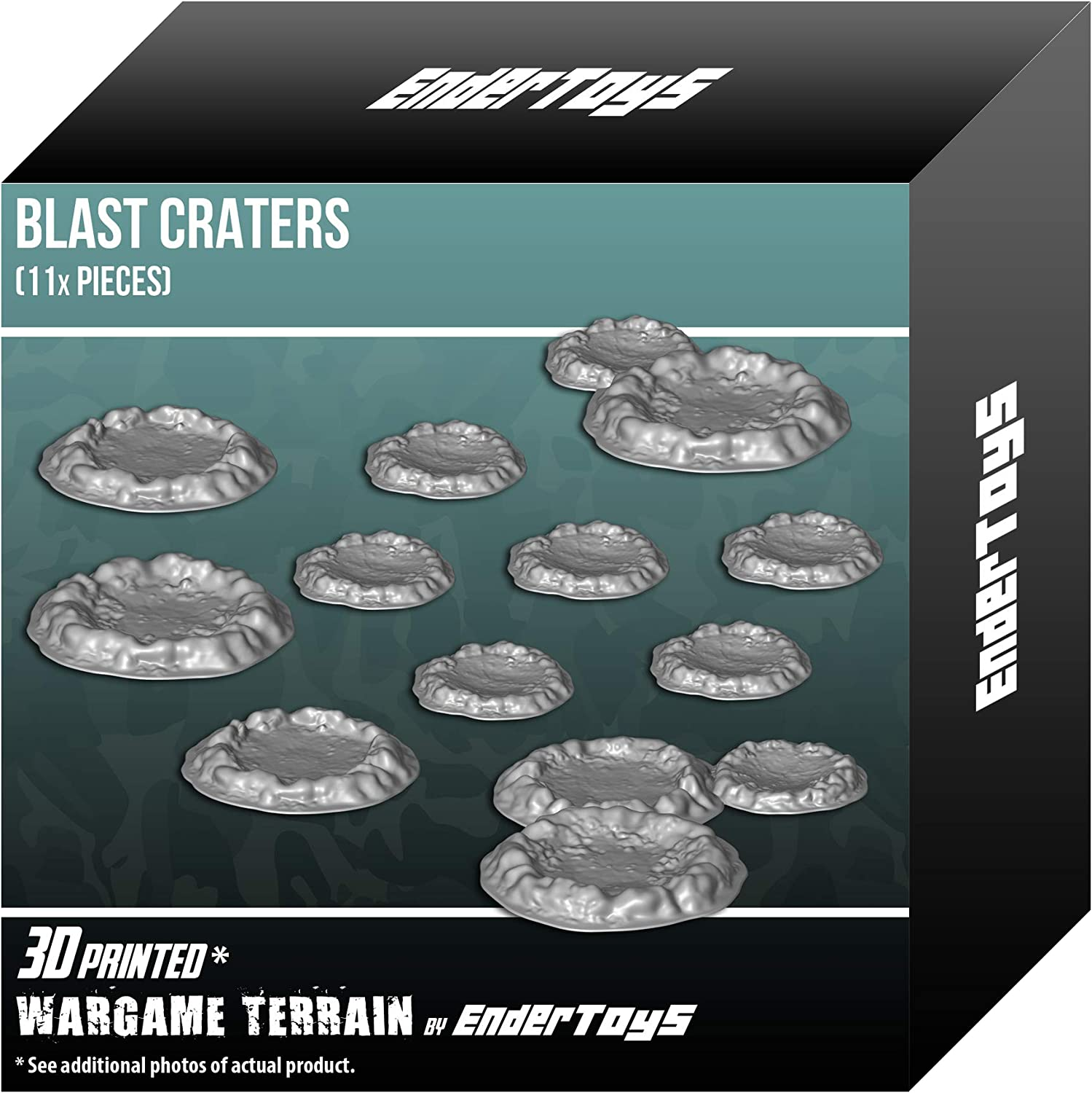 Blast Craters, Terrain Scenery for Tabletop 28mm Miniatures ...