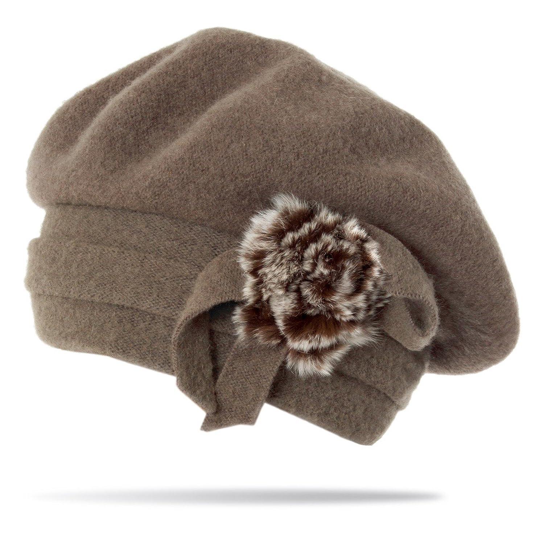 CASPAR Damen ANGORA Wintermützen / Hüte aus Angora / Wollmützen / Fellmützen / Beanie - in vielen Formen und Farben - MUSET1