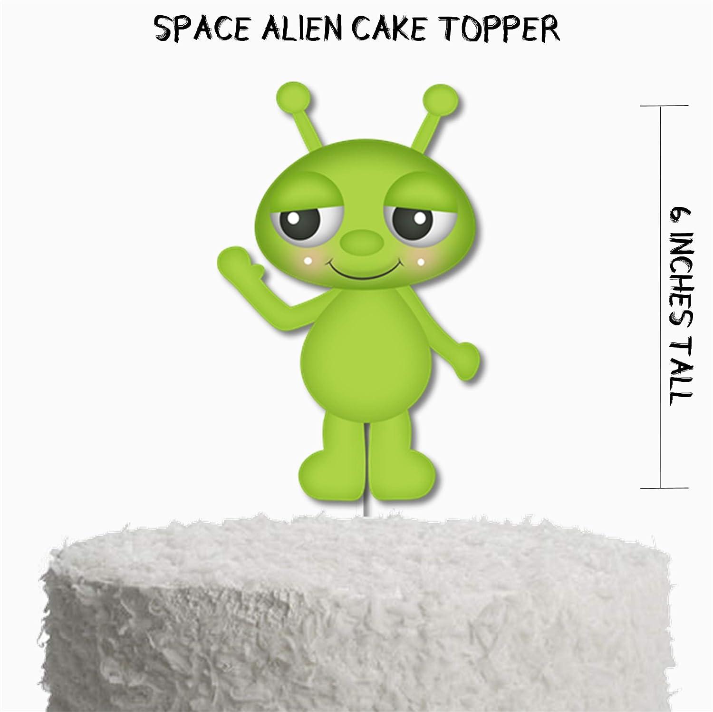 Prime Amazon Com Space Alien Birthday Cake Topper Space Birthday Party Funny Birthday Cards Online Elaedamsfinfo