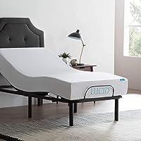 Lucid L100 Adjustable Bed Base with Lucid 10 Inch Gel Memory Foam Mattress (Renewed)