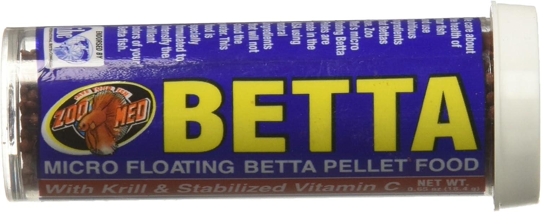 Betta Micro Floating Betta Pellet Food,Net Wt0.65 Oz
