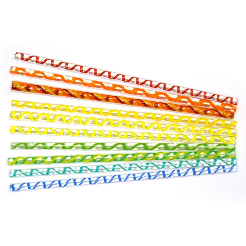 Rainbow Assortment Twisted Cane Pack - 96 Coe