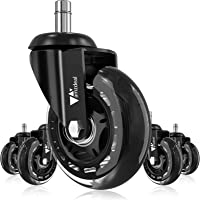 Amzdeal Office Chair Caster Wheels - Heavy Duty & Safe Chair Wheels Replacement Rollerblade Caster Wheels for All Floors…