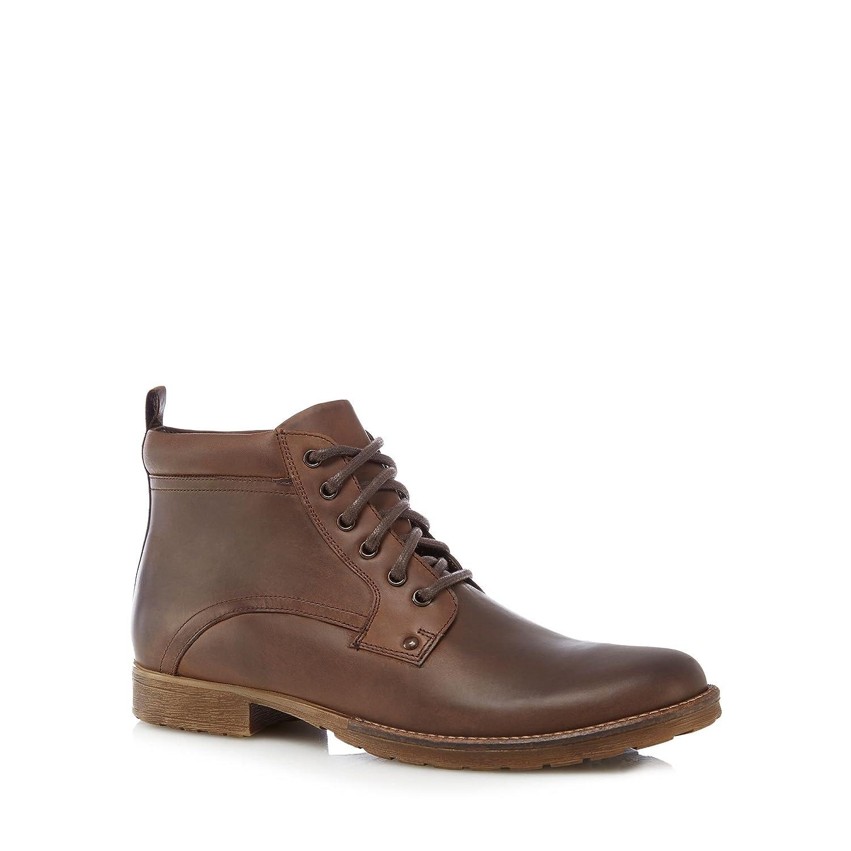 Debenhams Mantaray Men Brown Leather Lace Up Boots 6: Amazon.co.uk: Shoes &  Bags
