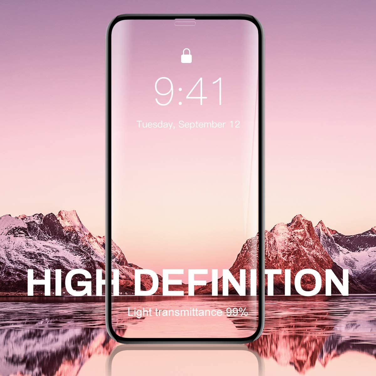 6.5 inch Black Full Coverage Screen Protection Glass HD for iPhone Xs max Tempered Glass Screen Protectors 3D Touch iONCT 6D for iPhone Xs max Screen Protector Edge to Edge