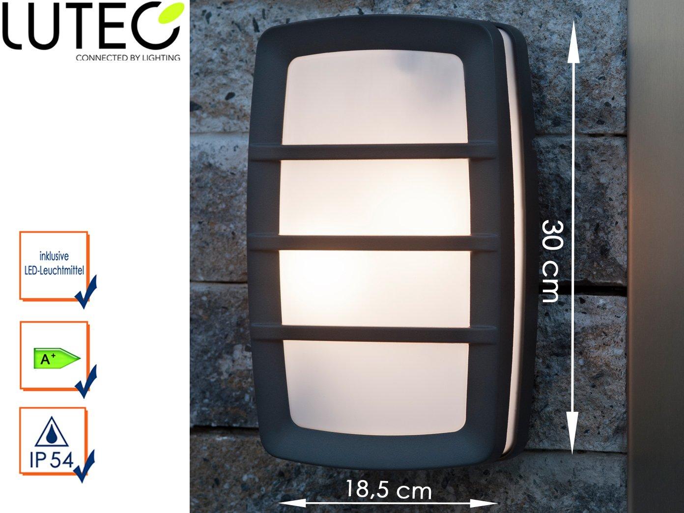 Applique da parete lampada da esterno seine con led altezza cm
