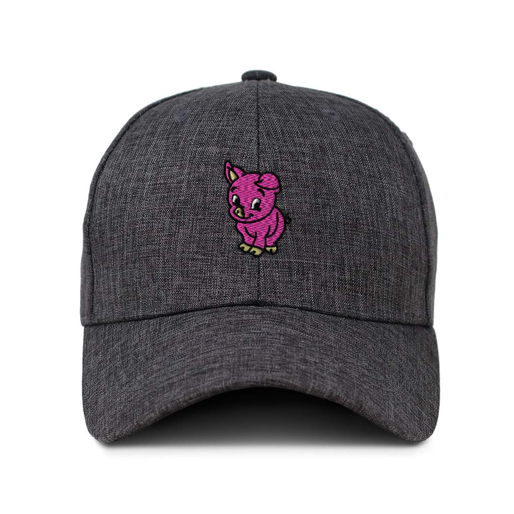 Custom Baseball Cap Cute Smiley Baby Pig Embroidery Casual Hats for Men /& Women