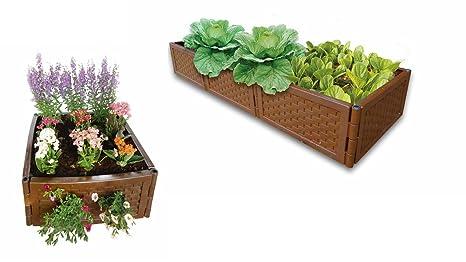 UPP® Multifunción Bancal flexible & ampliable/compostador/caja de arena/semillero/