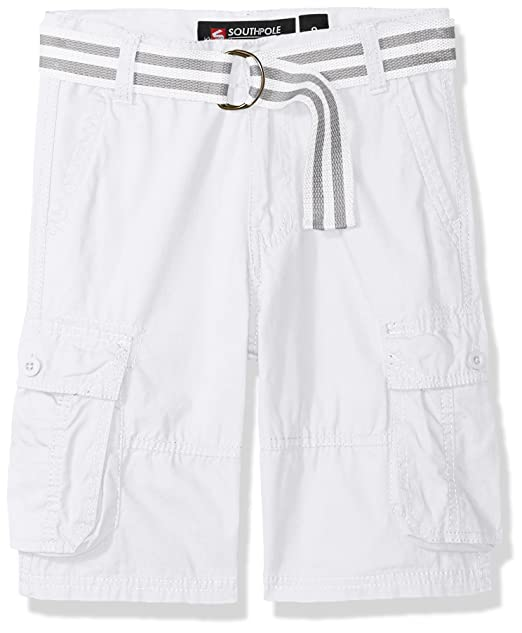 371b1812ea Southpole Boys' Big Belted Mini Canvas Cargo Shorts in: Amazon.ca ...