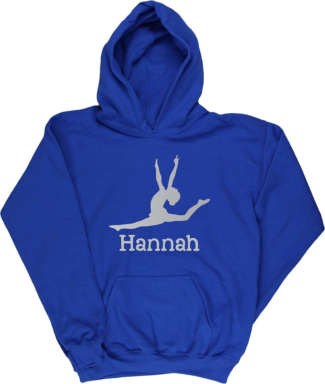 Personalised Name Gymnastics Kids Childrens Unisex Hoodie Hooded top Hippowarehouse