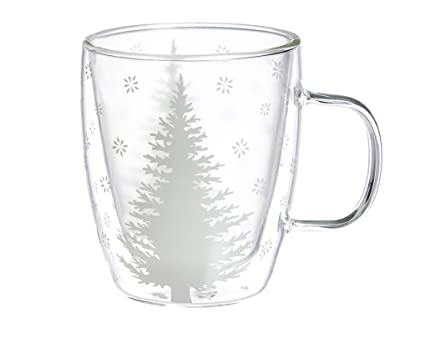 Home Cup12 Cypress Glass White Tree Coffee Ounces XuPiTOkZ