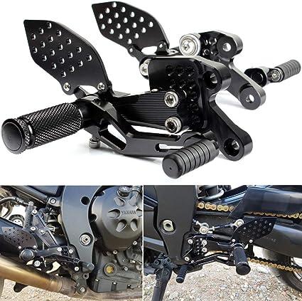 Tarazon Motorrad Rearsets Cnc Aluminum Einstellbare Fußrasten Fußstütze Fußrastenanlage Für Yamaha Fz1 Fz1s Fazer 1000 2006 2015 Fz8 800 2010 2013 Auto