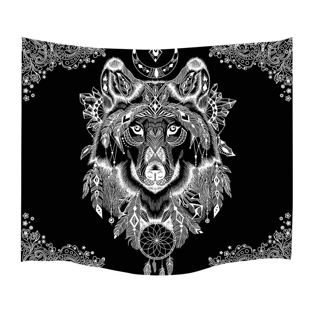 Simsant Tapestry Black and White Wall Hanging Tribe