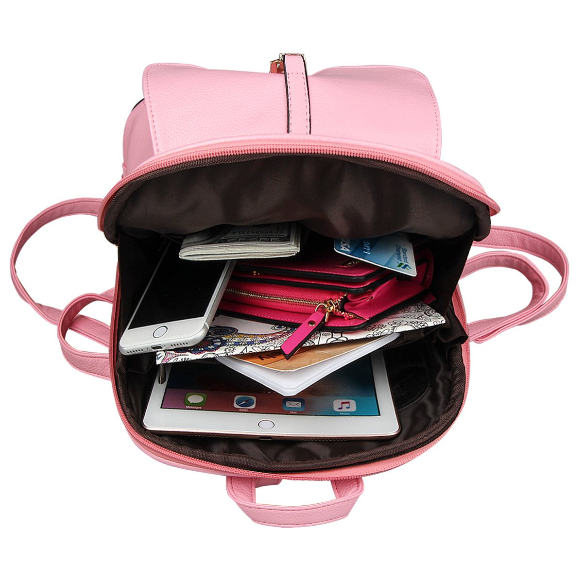 xhorizon TM FL1 Leather Mini School Bag Travel Backpack Rucksack Shoulder Bag Satchel (Navy) by xhorizon (Image #6)