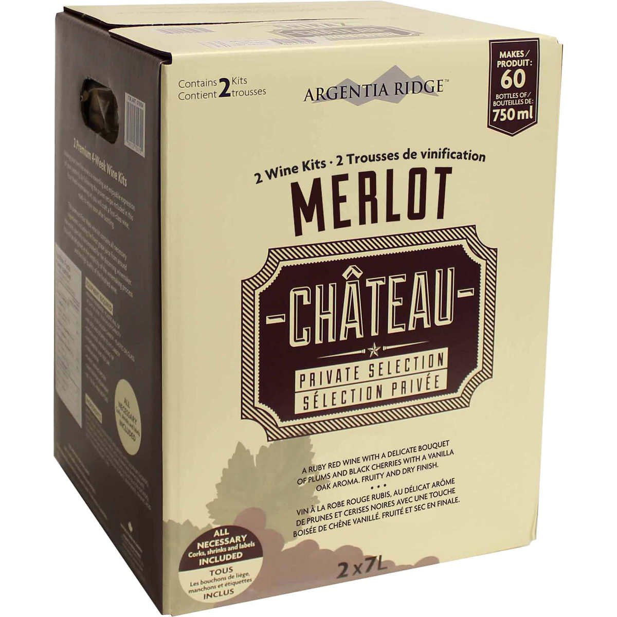 Argentia Ridge Château Private Selection Wine Kit (Merlot)