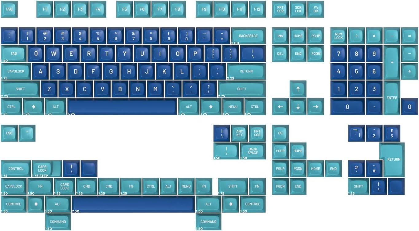 Drop MT3 Dasher Hi-Profile Doubleshot ABS Keycap Set - Base Kit