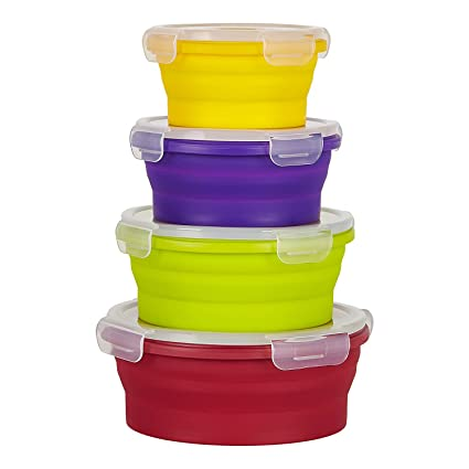 Amazoncom Flat Stacks Collapsible Food Storage Containers