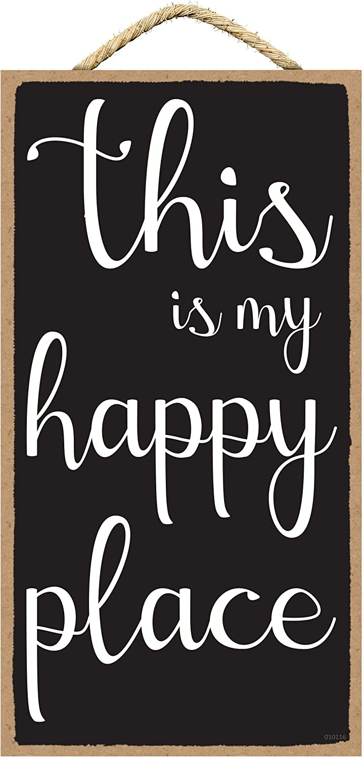 SARAH JOY'S This is My Happy Place - My Happy Place - Craft Room Decor - Craft Room Decorations - Home Decor Signs - Plaques with Sayings