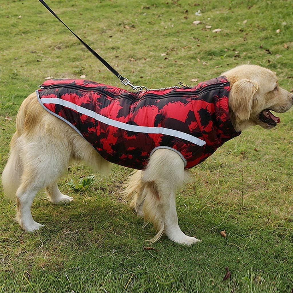 Notdark Hundemantel Winter Warm Camouflage Hundejacke Regen Wasserdicht Jacke Winterjacke f/ür Hunde Reflektierende Nylon Fleece Gef/üttert