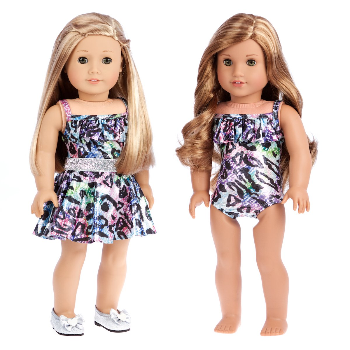 Skirt Dolls Not Included Blouse Nightgown Ultimate Play Set 7 Piece DreamWorld Collections Pants 3 Mix and Match Outfits with Shoes Swim Suit Leather Jacket and Shoes. Clothes Fits 18 Inch American Girl Doll