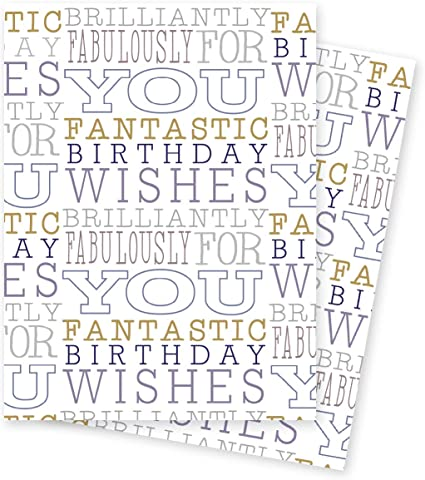 Terrific Happy Birthday Blue Birthday Wishes Blue And Gold Text Gift Wrap Personalised Birthday Cards Bromeletsinfo