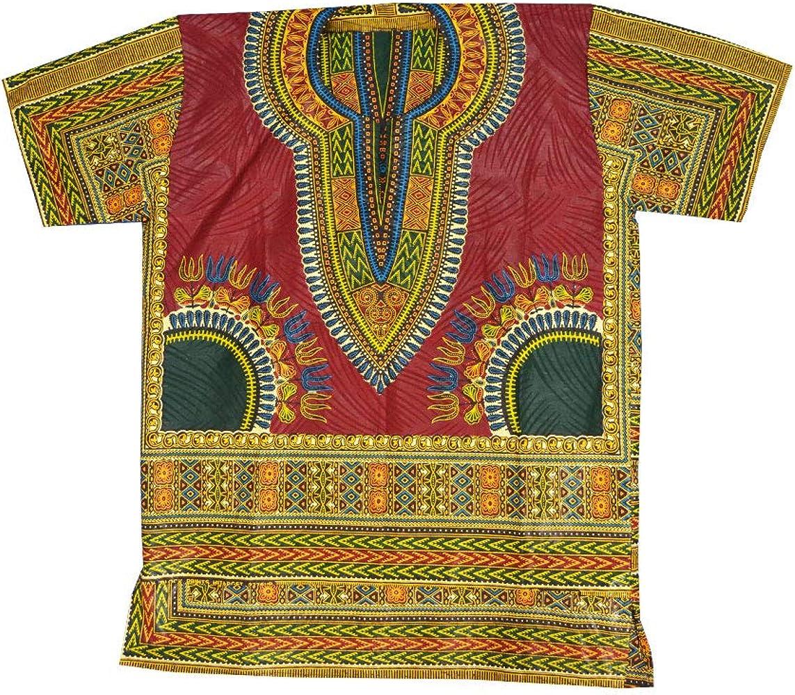 Horus Artesanía de Egipto Camisa Africana algodón Wax Unisex de 57 cm Ancho y 75 cm Largo Ref.6: Amazon.es: Ropa y accesorios
