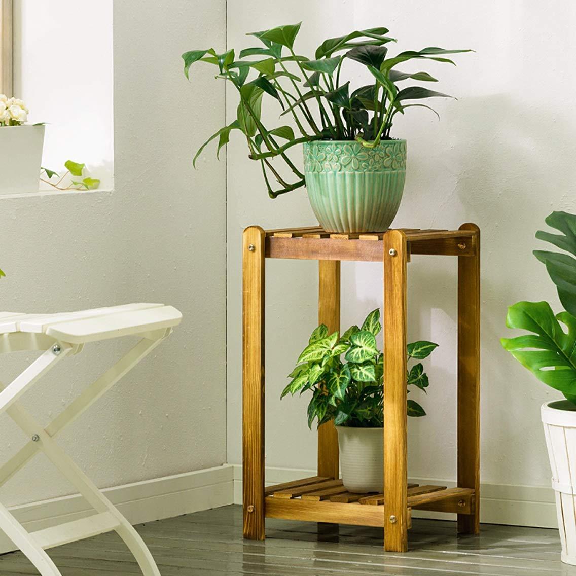 HZB Solid Wood Combination Flower Rack Floor Wooden Multi Storey Balcony Living Room Indoor Flower Pot Rack