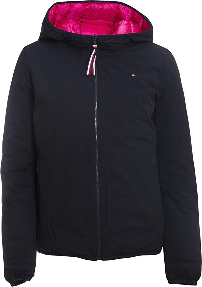 Tommy Hilfiger Damen Steppjacke TH Essential Revers Padded