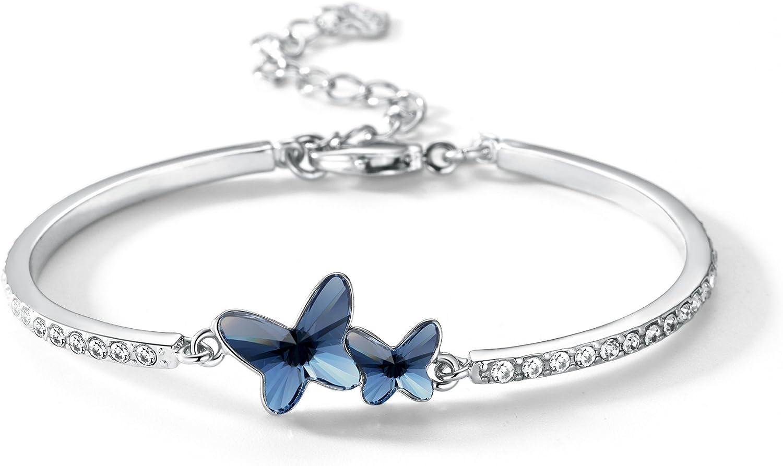 Gifts for Her Bracelets for Women Bracelets for her Ladies Gifts Blue Bracelets Simple Bracelets Shiny Blue Bracelets