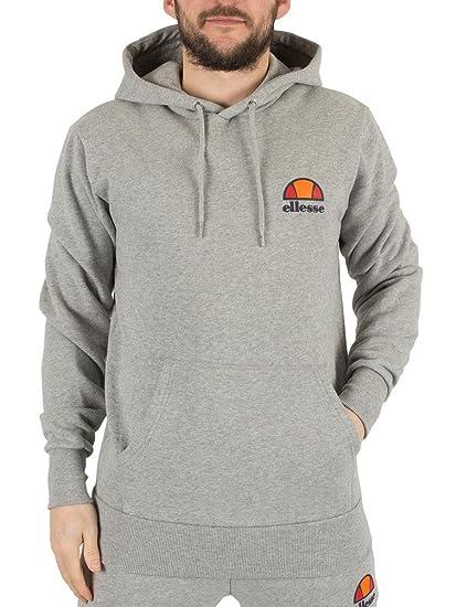c7e1c80d Mens Ellesse Athletic Grey Marl Toce Left Logo Hoodie - L: Amazon.co ...