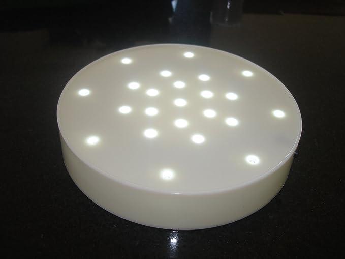 10 White Led Light Bases With 23 Bright White Lights Vase Uplight