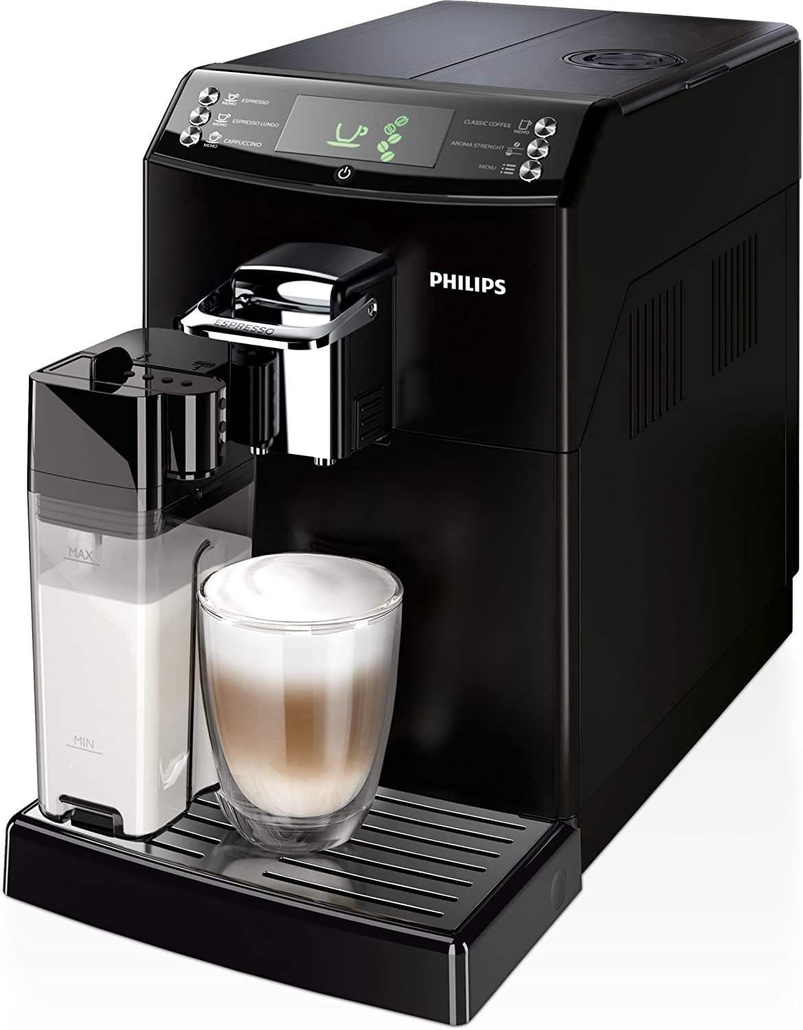 Philips 4000 series HD8847/09 - Cafetera (Independiente, Máquina espresso, 1,8 L, Molinillo integrado, 1850 W, Negro): Amazon.es: Hogar