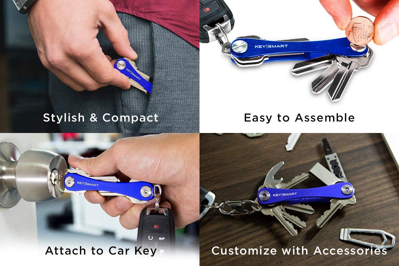 2 /à 8 cl/és, Bleu KeySmart Lite Organisateur et Porte-cl/és compact