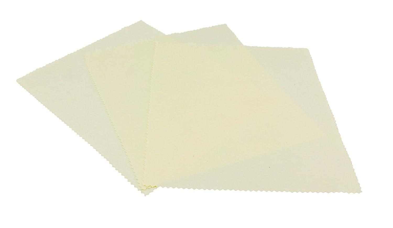 Edison & King Conjunto de 3 gamuzas de limpieza de micro fibra para gafas en diferentes colores con corte en zig zag en calidad premium que sirve tambié n para pantallas - beige