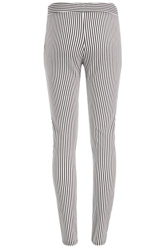1e84040bd Crepe Black and White Striped Trousers Pants with Pockets at Amazon Women's  Clothing store: