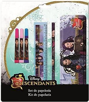 LOS DESCENDIENTES de Disney Set de papeleria con Estuche metalico: Amazon.es: Juguetes y juegos