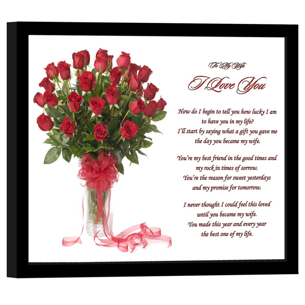 amazoncom to my wife anniversary or birthday i love you gift sweet love poem in red roses design