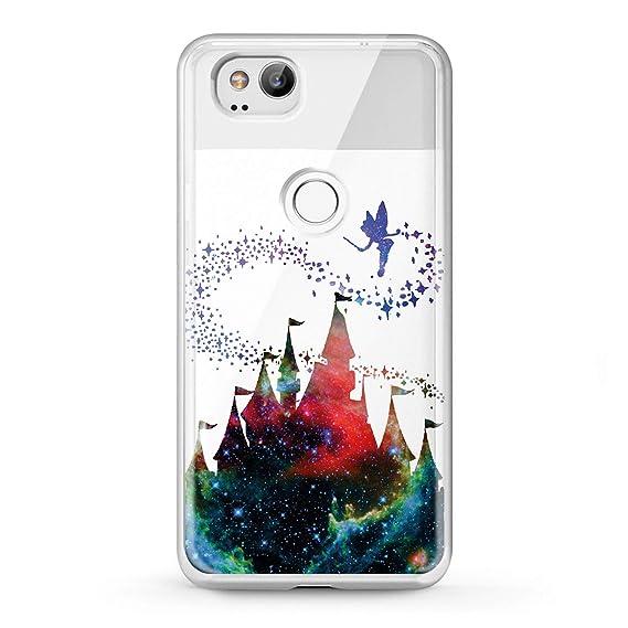 the best attitude 49d22 c3cd2 Lex Altern TPU Case Google Pixel 2 XL Clear Castle 3 Phone Disney Cover  Protective Tinkerbell Design Cute Transparent Galaxy Print Soft Teen Girly  ...