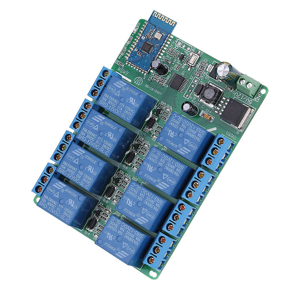 8 Channel Bluetooth Relay Module Board Android Mobile Phone