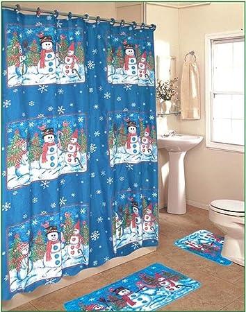 snowman bathroom sets. Snowman 15 Piece Bath Set Amazon com  Home Kitchen