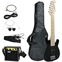 """Smartxchoices 30"""" Inch Kids Electric Guitar With 5W Amp & Much More Guitar Combo Accessory Kit Holiday Gift (Black)"""