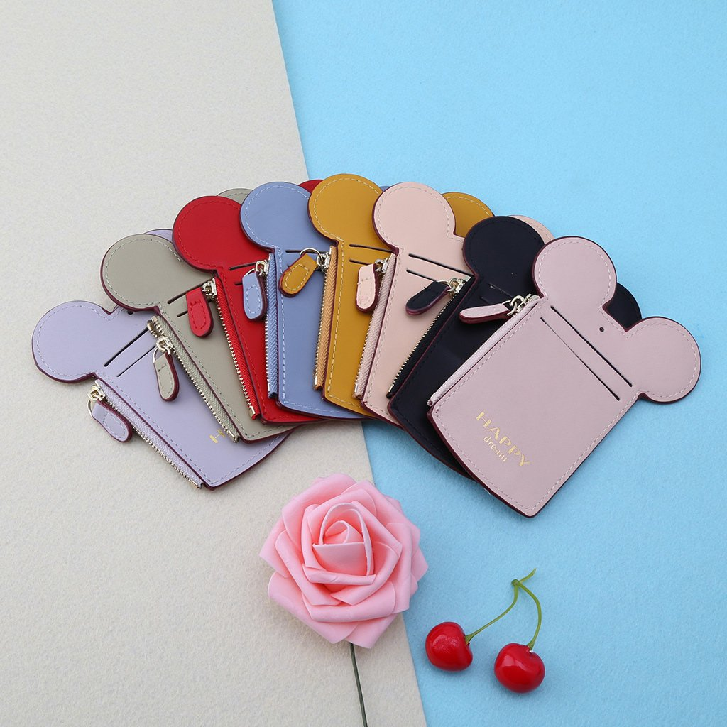 Cute Animal Shape Card Holder Money Wallet ID Cases Neck Lanyard Bag for Women Lady