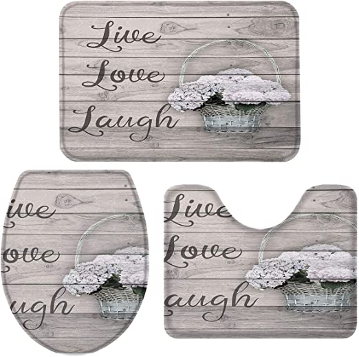 Inspirational Live Laugh Love Bath Collection Brown Gray 18pc Set or Separates