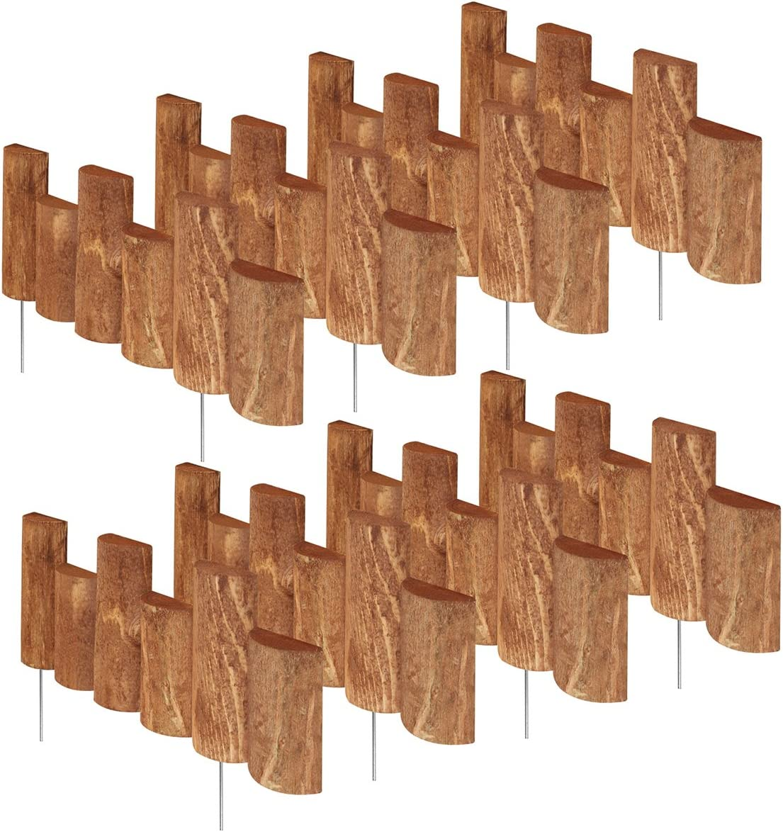 Greenes Fence 18 in. Half Log Edging 8 Pack