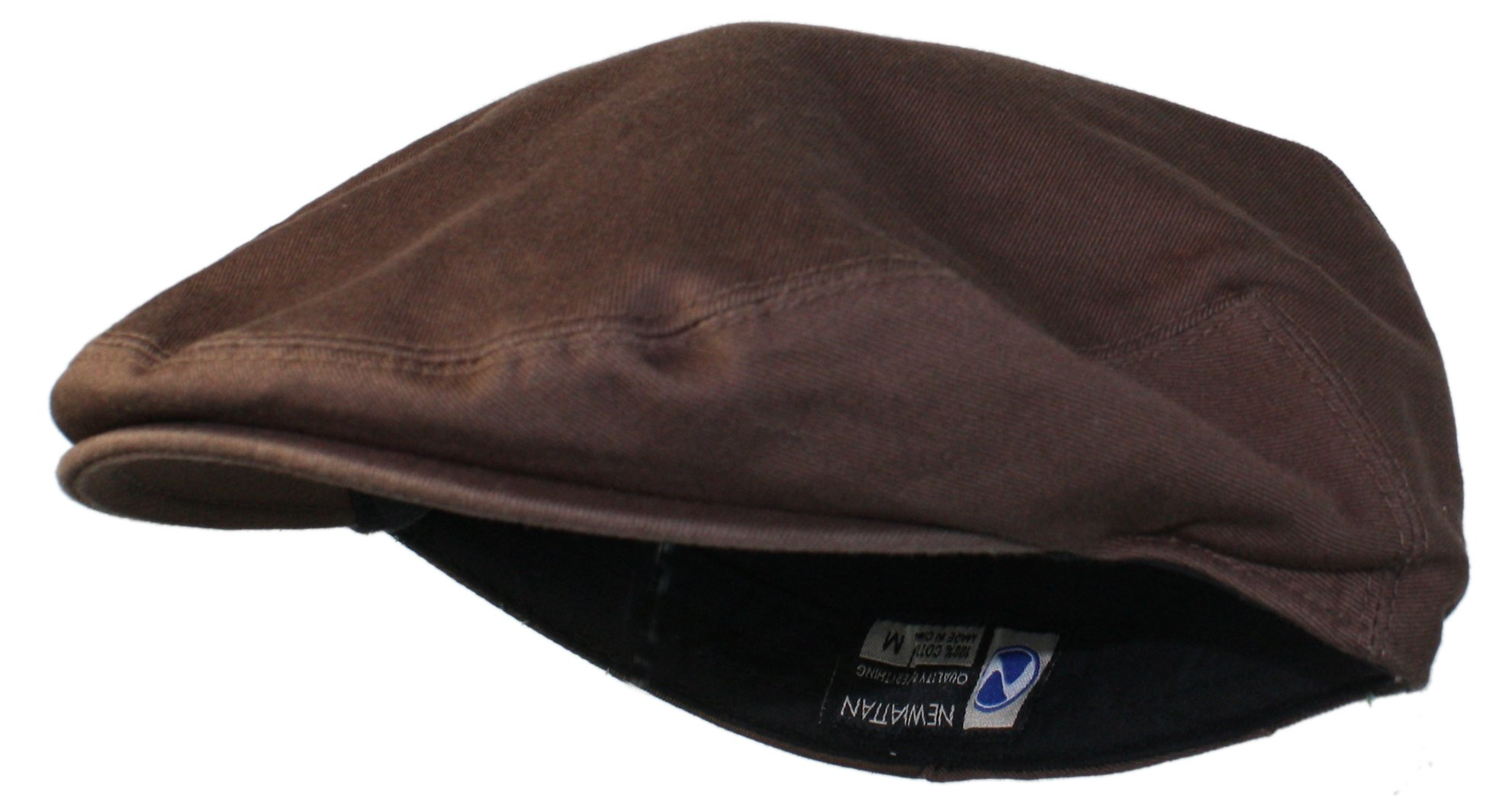 Ted and Jack - Street Easy Traditional Solid Cotton Newsboy Cap (X-Large, Chocolate Brown) by Ted and Jack