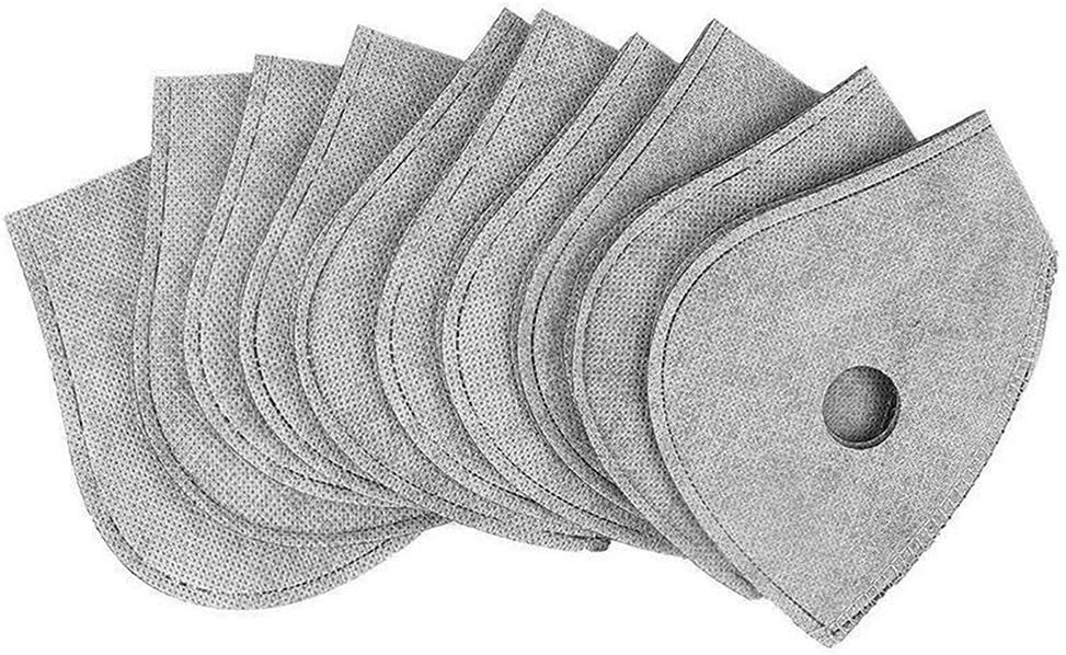 Miraitian - Filtro antipm2.5 para máscara de protección, 4 Capas, antiniebla, Polvo reemplazable para mascarillas bucales, Ciclismo al Aire Libre, Paquete de 30