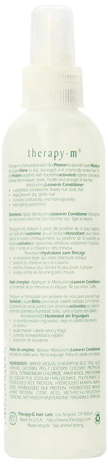 Amazon.com : Therapy-M Super Moisture Shine Moisturizing Leave-in Conditioner, 8.5 Ounce : Standard Hair Conditioners : Beauty