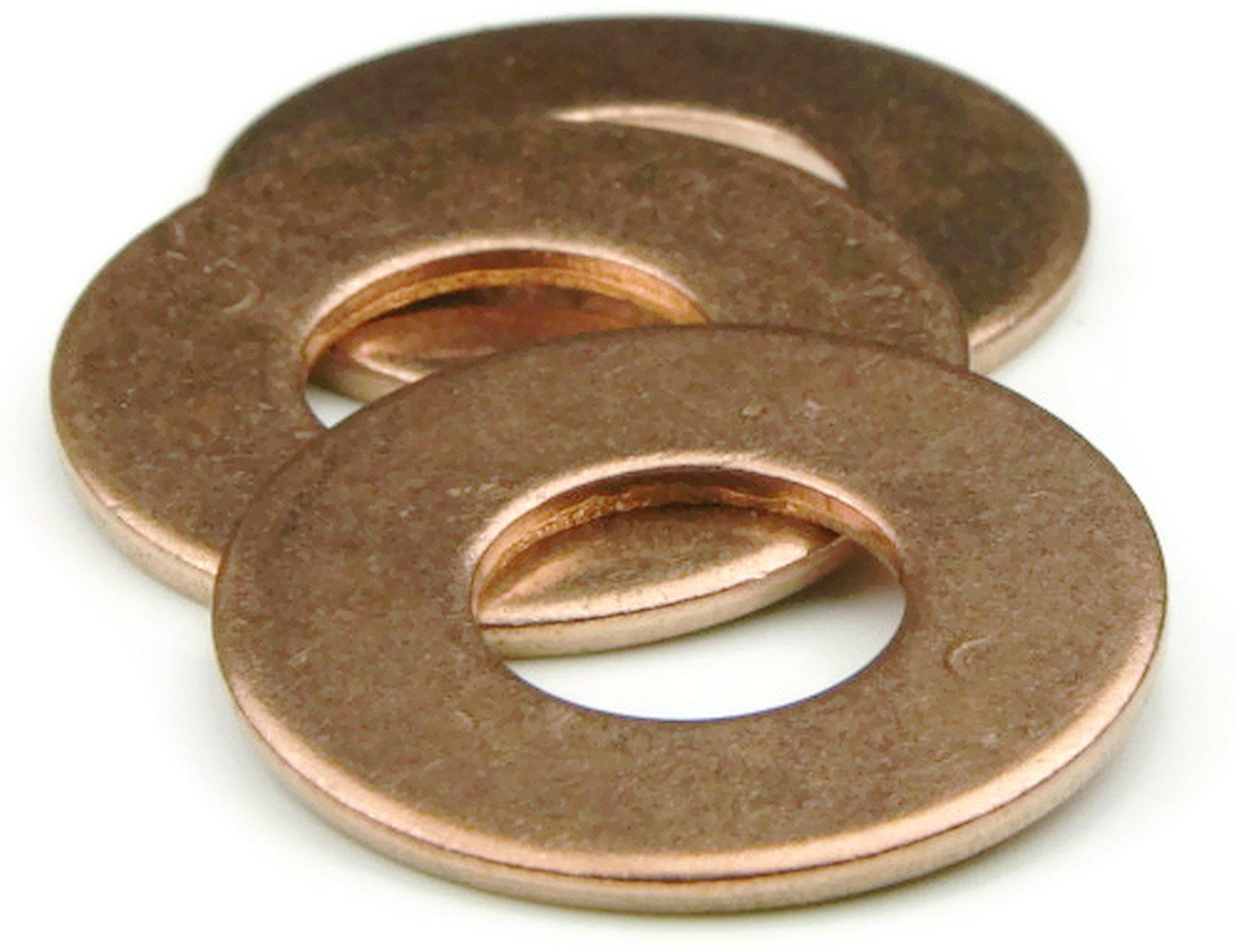 Silicon Bronze Flat Washers - #8 (0.172 x 0.375 x .032) Qty-1,000