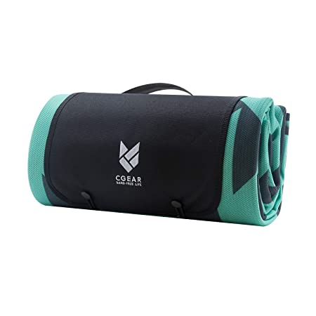 CGEAR Sandlite Patented Sand-Free Beach Mat Multi Use Outdoor Camping Mat, Picnic Blanket, Exercise Stretching Mat Rollup Compact Also Great for Families and Equipment Protection