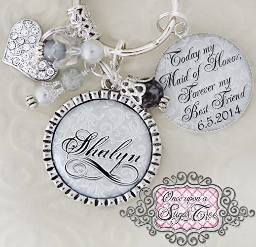 Amazon Maid Of Honor Gift Wedding Keychain Inspirational Quote